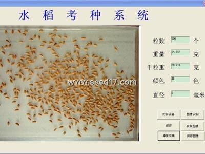 稻麦考种分析软件